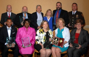 From left to right; Back Row: Mayor Norm McCourt, Brian Goldman, Scott Negwer, NCI President Rebecca Zoll, Pete Hall, Lt. Jerry Fuesting Front Row: Dr. Grayling Tobias, Veronica Morrow-Reel, Dr. Jerry Dunn, Patty Gould, Dr. Marcia Pfeiffer