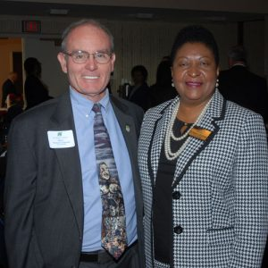 Florissant Mayor Thomas Schneider and Dr. Nettie Collins Hart of Hazelwood School District