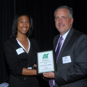 Kassandra Pierre of JLL Receiving Award from 2016 NCI Board Chair Sean Hogan