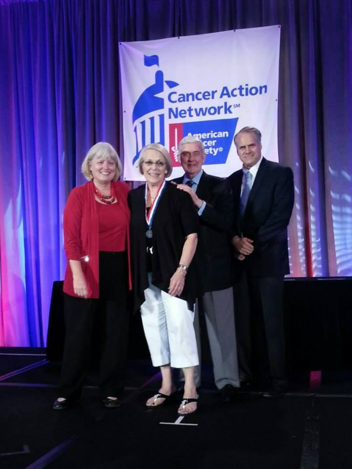 ACS CAN's Molly Daniels, Dr. John R. Seffin and Chris Hansen and Karen McKay