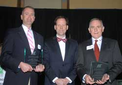 Raven Development's David Glarner, NCI Chair, Dan Boyle, and Watlow's Peter Desloge with the 2015 Business Development Award.